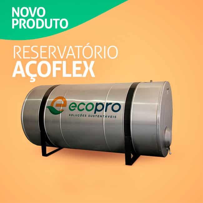 O reservatório para aquecedor Solar Açoflex da ECOPRO está disponível em vários modelos.